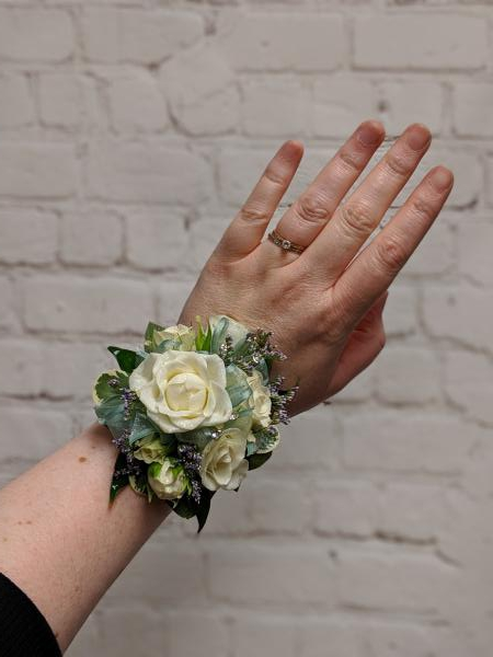Spray Rose Corsage with Mint Accents