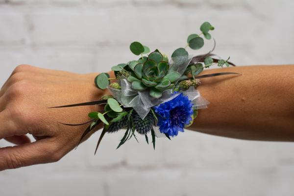 Succulent and Wildflower Corsage