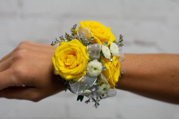 Yellow Spray Rose Corsage