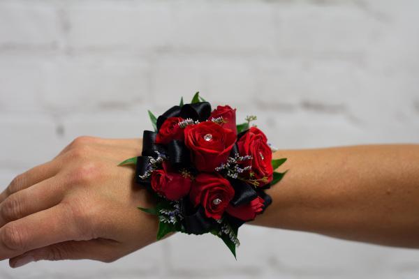 Red Spray Rose Corsage