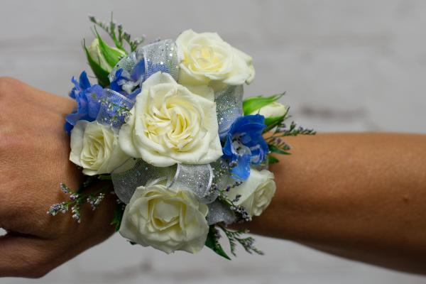 Spray Rose and Delphinium Corsage